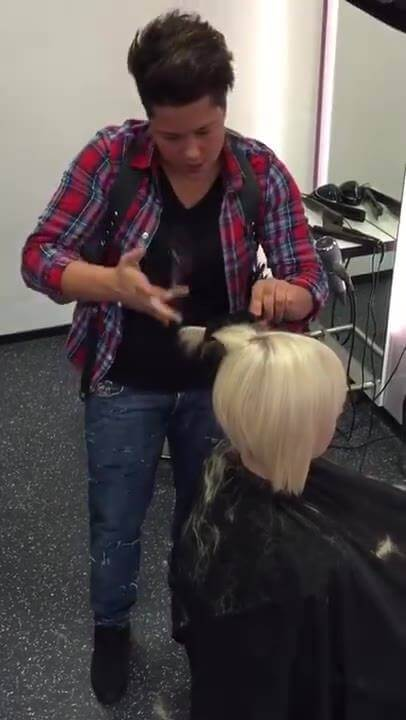 WEED WHACKING HAIR This skilled hairdresser changes things up with a unique technique of…