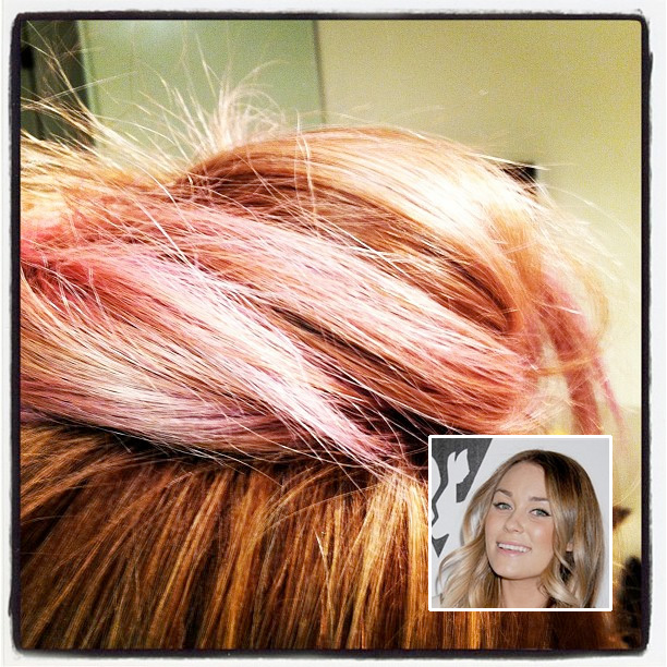 Lauren Conrad Pink Hair Color Hairs The Bling