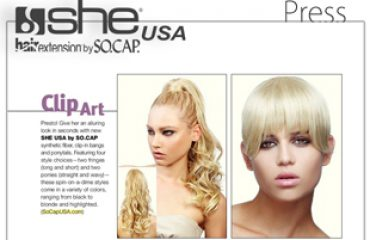She by SO.CAP.USA: Hot by Hair's How - March/April 2012