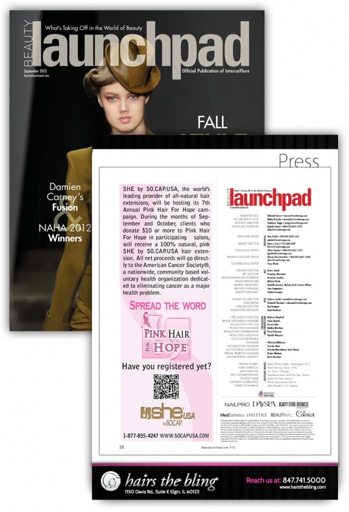 She by SO.CAP.USA - Beauty Launchpad - September 2012